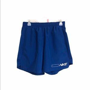 NIKE DriFit men's running shorts blue medium